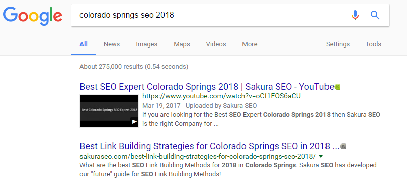 Sakura SEO Colorado Springs Search Engine Optimization 2018